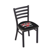 L00418 Black Wrinkle Valdosta State Stationary Chair with Ladder Style Back by Holland Bar Stool Co.
