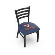 L00418 Black Wrinkle Virginia Stationary Chair with Ladder Style Back by Holland Bar Stool Co.