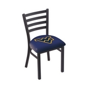 L00418 Black Wrinkle West Virginia Stationary Chair with Ladder Style Back by Holland Bar Stool Co.