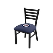 L00418 Black Wrinkle Winnipeg Jets Stationary Chair with Ladder Style Back by Holland Bar Stool Co.