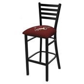 L004 - 25 Black Wrinkle Arizona Coyotes Stationary Counter Stool with Ladder Style Back by Holland Bar Stool Co.