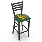 L004 - 25 Black Wrinkle Baylor Stationary Counter Stool with Ladder Style Back by Holland Bar Stool Co.