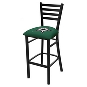 L004 - 25 Black Wrinkle Dallas Stars Stationary Counter Stool with Ladder Style Back by Holland Bar Stool Co.