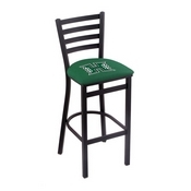L004 - 30 Black Wrinkle Hawaii Stationary Bar Stool with Ladder Style Back by Holland Bar Stool Co.