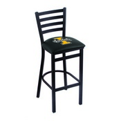 L004 - 25 Black Wrinkle Idaho Stationary Counter Stool with Ladder Style Back by Holland Bar Stool Co.
