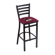 L004 - 25 Black Wrinkle Louisiana-Monroe Stationary Counter Stool with Ladder Style Back by Holland Bar Stool Co.