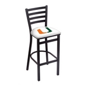 L004 - 25 Black Wrinkle Miami (FL) Stationary Counter Stool with Ladder Style Back by Holland Bar Stool Co.