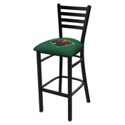 L004 - 25 Black Wrinkle Minnesota Wild Stationary Counter Stool with Ladder Style Back by Holland Bar Stool Co.