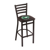 L004 - 25 Black Wrinkle North Dakota Stationary Counter Stool with Ladder Style Back by Holland Bar Stool Co.
