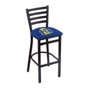 L004 - 30 Black Wrinkle South Dakota State Stationary Bar Stool with Ladder Style Back by Holland Bar Stool Co.