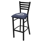 L004 - 25 Black Wrinkle Tampa Bay Lightning Stationary Counter Stool with Ladder Style Back by Holland Bar Stool Co.