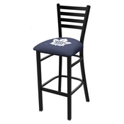 L004 - 25 Black Wrinkle Toronto Maple Leafs Stationary Counter Stool with Ladder Style Back by Holland Bar Stool Co.
