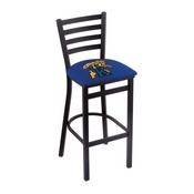 L004 - 30 Black Wrinkle Kentucky Wildcat Stationary Bar Stool with Ladder Style Back by Holland Bar Stool Co.