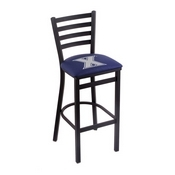 L004 - 30 Black Wrinkle Xavier Stationary Bar Stool with Ladder Style Back by Holland Bar Stool Co.