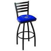 L014 - Black Wrinkle U.S. Air Force Swivel Bar Stool with Ladder Style Back by Holland Bar Stool Co.