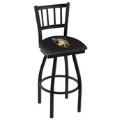 L018 - Black Wrinkle US Military Academy (ARMY) Swivel Bar Stool with Jailhouse Style Back by Holland Bar Stool Co.