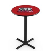 L211 - Black Wrinkle Alabama Pub Table by Holland Bar Stool Co.