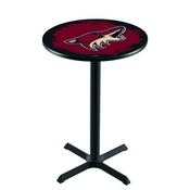 L211 - Black Wrinkle Arizona Coyotes Pub Table by Holland Bar Stool Co.