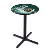 L211 - Black Wrinkle Bemidji State Pub Table by Holland Bar Stool Co.
