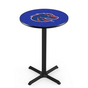 L211 - Black Wrinkle Boise State Pub Table by Holland Bar Stool Co.