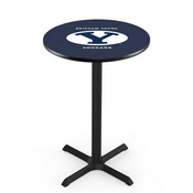 L211 - Black Wrinkle Brigham Young Pub Table by Holland Bar Stool Co.