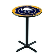 L211 - Black Wrinkle Buffalo Sabres Pub Table by Holland Bar Stool Co.