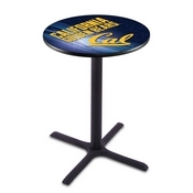 L211 - Black Wrinkle Cal Pub Table by Holland Bar Stool Co.