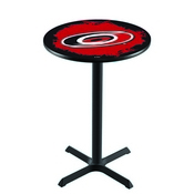 L211 - Black Wrinkle Carolina Hurricanes Pub Table by Holland Bar Stool Co.
