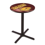 L211 - Black Wrinkle Central Michigan Pub Table by Holland Bar Stool Co.