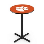 L211 - Black Wrinkle Clemson Pub Table by Holland Bar Stool Co.