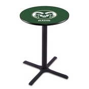 L211 - Black Wrinkle Colorado State Pub Table by Holland Bar Stool Co.