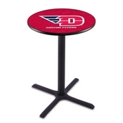 L211 - Black Wrinkle University of Dayton Pub Table by Holland Bar Stool Co.
