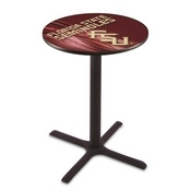 L211 - Black Wrinkle Florida State (Script) Pub Table by Holland Bar Stool Co.