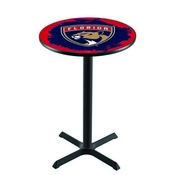 L211 - Black Wrinkle Florida Panthers Pub Table by Holland Bar Stool Co.