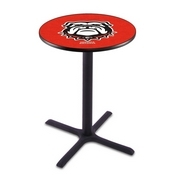 L211 - Black Wrinkle Georgia Bulldog Pub Table by Holland Bar Stool Co.