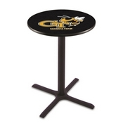 L211 - Black Wrinkle Georgia Tech Pub Table by Holland Bar Stool Co.