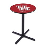 L211 - Black Wrinkle Houston Pub Table by Holland Bar Stool Co.