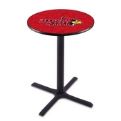 L211 - Black Wrinkle Illinois State Pub Table by Holland Bar Stool Co.