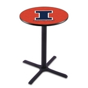 L211 - Black Wrinkle Illinois Pub Table by Holland Bar Stool Co.