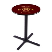 L211 - Black Wrinkle Iowa State Pub Table by Holland Bar Stool Co.