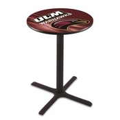 L211 - Black Wrinkle Louisiana-Monroe Pub Table by Holland Bar Stool Co.