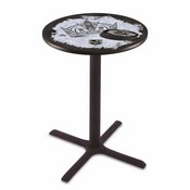 L211 - Black Wrinkle Los Angeles Kings Pub Table by Holland Bar Stool Co.