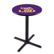 L211 - Black Wrinkle Louisiana State Pub Table by Holland Bar Stool Co.