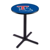 L211 - Black Wrinkle Louisiana Tech Pub Table by Holland Bar Stool Co.