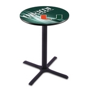 L211 - Black Wrinkle Miami (FL) Pub Table by Holland Bar Stool Co.