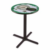 L211 - Black Wrinkle Minnesota Wild Pub Table by Holland Bar Stool Co.