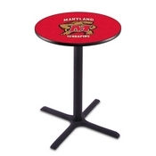 L211 - Black Wrinkle Maryland Pub Table by Holland Bar Stool Co.