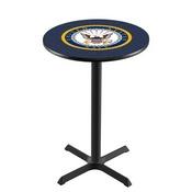 L211 - Black Wrinkle U.S. Navy Pub Table by Holland Bar Stool Co.