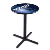 L211 - Black Wrinkle Nevada Pub Table by Holland Bar Stool Co.