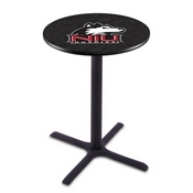L211 - Black Wrinkle Northern Illinois Pub Table by Holland Bar Stool Co.
